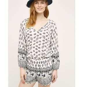 "Anthropologie Lilka "" Apolima"" Paisley Romper"